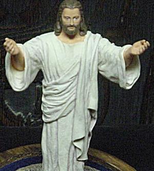 His Presence Portrayal Of Christ Figure Warner Sallman Jesus Resurrection Dome Glass (Image1)