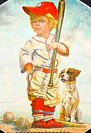 The Big Leaguer Professionals Perillo Vague Shadows Blond Boy Brown White Dog Red Cap