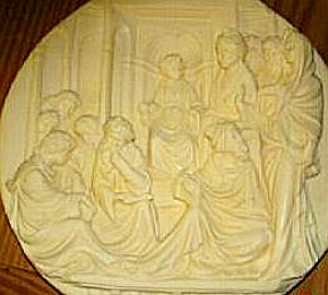 Ivory CHRIST AMONG THE DOCTORS Alberto Santangela Studio Dante Volteradici 38-V90-3.3 (Image1)