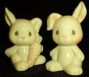 Precious Moments Noah's Ark Bunnies S & P Salt & Pepper Series #938254 1996 Hamilton