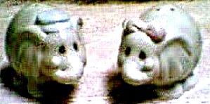 PRECIOUS MOMENTS NOAH'S ARK ELEPHANTS S & Ps S & P '96 Salt & Pepper Series Hamilton (Image1)