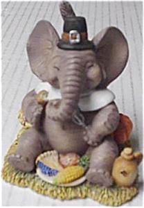 LET US GIVE THANKS HAMILTON PEANUT PALS OF THE MONTH ELEPHANTS MICHAEL ADAMS NOVEMBER (Image1)