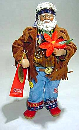 POSSIBLE DREAMS RETRO HIPPIE SANTA GRATEFUL RED Clothtiques #713704 2003 Jerry Garcia (Image1)