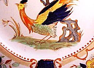 WOODS DENBIGH Bird Of Paradise BURSLEM ENGLAND REG 753691 ENOCH 1784 RALPH 1750 Imari (Image1)