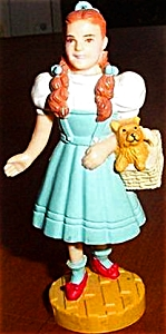 Dorothy Toto Wizard Oz Hamilton Presents Pvc Figure Figurines Ornament Mgm Loews 50th