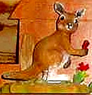 Protect Nature's Innocents Gray Kangaroo Endangered Species Animal Hamilton Manning B