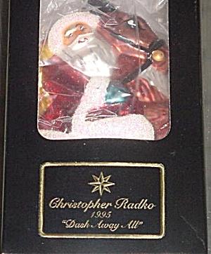 DASH AWAY ALL SP-7 1995 Christopher Radko STARLIGHT CLUB MEMBER ONLY Ornament Ornie (Image1)