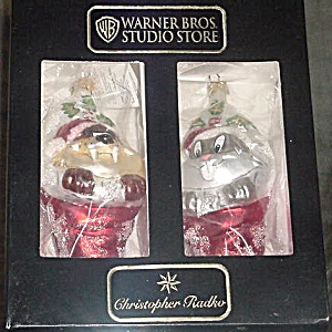 BUGS & TAZ STOCKINGS WB-4 WARNER BROTHERS Bunny Tazmanian Devil Limited Edition (Image1)