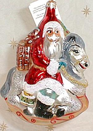 CAROUSEL SANTA 95-133-0 '95 ORIGINAL On Horse GERMANY Christopher Radko Ornament Orni (Image1)