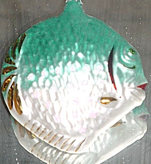 Turquoise Tropical Fish 1994 90-070-2 Poland Christopher Radko Ornament Ornie