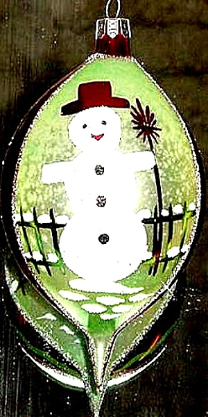 SNOWMAN By Candlelight 1993 93-155-0 2-sided Made In Poland (Image1)