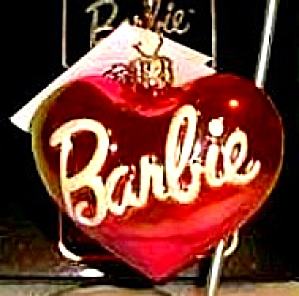 98-Bar-03 MATTEL BARBIE Heart Ornament MIB TAG Poland Christopher Radko (Image1)