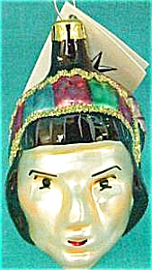 Apache 91-042-0 Polish Indian Native American Head Htf W/tag 1991 Christopher Radko