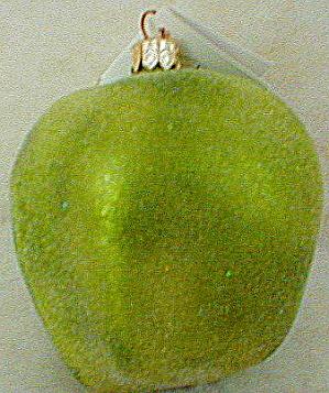 Apple A Day 97-457-0 Green Christopher Radko Poland Granny Smith Newtown Pippin Fruit (Image1)