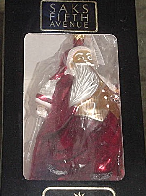 Santa Calls 95-sak-02 William Joyce Saks 5th Ave Exclusive Radko