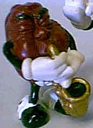 SAXOPHONE SAXAPHONE CALIFORNIA RAISINS CALRAB RAISIN BOARD 1987 Gold Brass Alto Tenor (Image1)