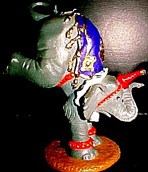 Baby Elephant : Ringling Brothers Painted Bronze Circus Animals : Artist P. Cozzolino