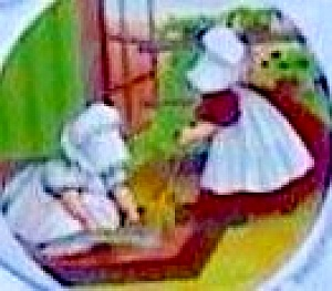 Tettau Sunbonnet Babies Weekday Friday Sweeping By Bertha Betha L. Corbett Days Week