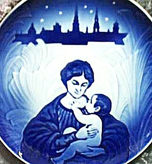 1895 1908 Royal Copenhagen Bing & Grondahl Maria And Her Child Christmas '87 Le Plate