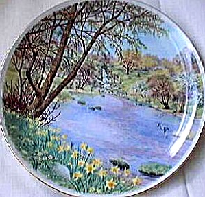 FOUR SEASONS LAKELAND SPRING READERS DIGEST Plat PETER BARRATT UK Heron Kingfisher 70 (Image1)