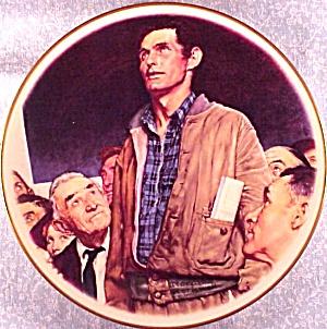 ROCKWELL GORHAM 4 FOUR FREEDOMS FREEDOM OF SPEECH SatEvePost FDR Speech '41 10 1/2 in (Image1)