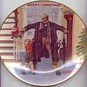 Norman Rockwell The Big Moment Royal Devon 77 Plate S.e.p. 1936 Grandpa's Gift Puppy