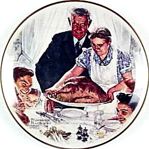 ROCKWELL GORHAM 4 FOUR FREEDOMS FREEDOM FROM WANT Sat Eve Post FDR Speech '41 10 1/2 (Image1)
