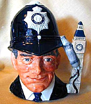 London Bobby Large RD #D6744 HTF Toby '85 Cop (Image1)