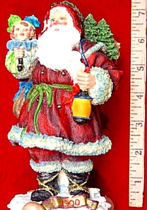 1900 American Santas Through The Decades Galleria Lucchese Cloth-like '98 #66950 (Image1)
