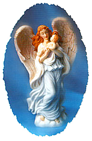 Seraphina Heaven's Helper '96 Retired Seraphim Classic Motherhood Series Angel Figs.