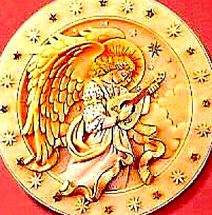 Seraphim Classics® 1 ROSALYN RAREST OF HEAVEN CLASSIC ANGEL PLATE Roman #20117 Closed (Image1)