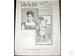 I Like It I Do Lillie May Hall's Beautiful Songs Sheet Music Risqué 1887 2 Pictures