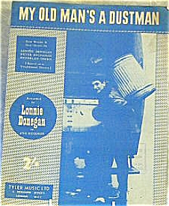 Lonnie Donegan My Old Man's A Dustman Sixties Garbage Collector Sanitary Engineer Can