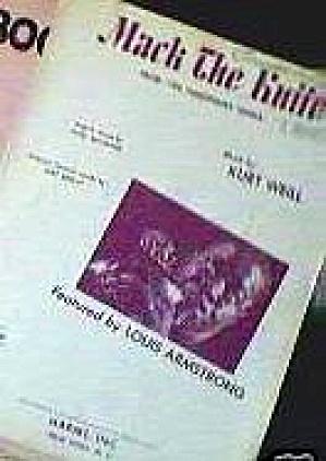 1928 MACK THE KNIFE THE THREEPENNY OPERA Kurt Weill Marc Blitzstein Louis Armstrong (Image1)
