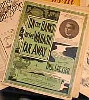 On The Banks Of The Wabash, Far Away Paul Dresser 1897 Ny Journal Edward Marshall Ind