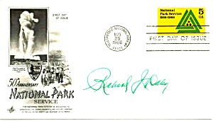 Signed Chicago Mayor Richard J Daley Aug 25 66 Scott 1314 First Day Cover Yellowstone (Image1)