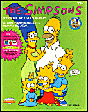 Simpsons Sticker Activity Album Diamond 1990 United Kingdom Eire Barts Bargain Bag Uk
