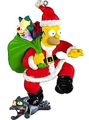 Carlton Ornament Talking Homer Simpson D'oh Ho! Ho! Merry Christmas 2004 CXOR-099L Ca (Image1)
