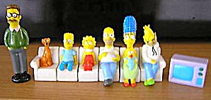 Simpsons Collection Mars Candy Lucky Dip Promo 1st Couch Scene Figure Cards Australia (Image1)