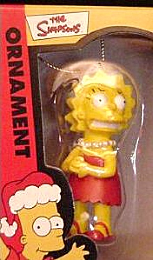 Lisa Simpson Holiday Ornament Nib #2000 Art Cielo Chicago 2003 20th Century Fox Tv Sh
