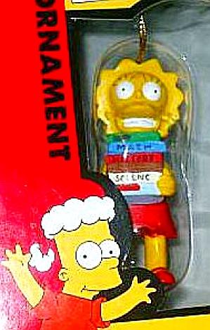 Lisa Simpson Ornament NIB #2000 Art Cielo Chicago 2003 20th Century Fox TV Show Books (Image1)