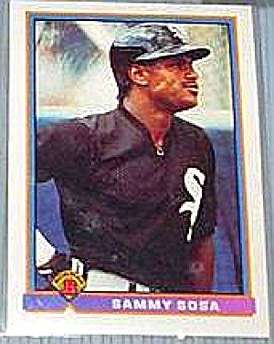 1991 Topps Bowman #350 Sammy Sosa Card Mint Graded 8.5 Nm-mt+