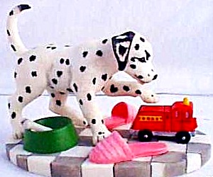 Seeing Spot Plays With Fire Truck Dalmation P