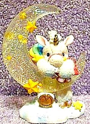 HANG ON TO YOUR DREAMS STARLIGHT STARBRIGHT Unicorn Enesco #153923 Dangling Hamilton  (Image1)