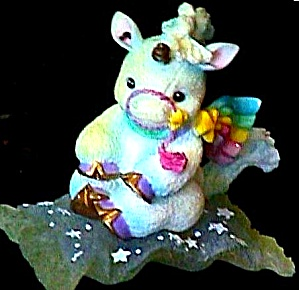 FOLLOW YOUR HEART STARLIGHT STARBRIGHT Unicorn Enesco #153974 Flying Carpet Hamilton (Image1)