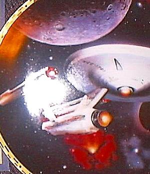 U.S.S. ENTERPRISE NCC-1701 STAR TREK® : THE VOYAGERS Artist K. BIRDSONG HAMILTON MIB (Image1)