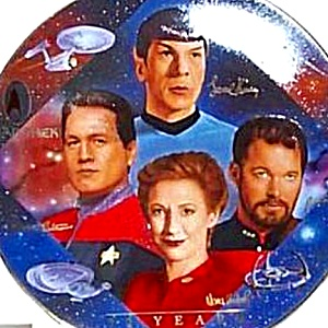 Star Trek® 30 Thirty Years Second 2nd In Command 1997 Mint Hamilton Collection Plate