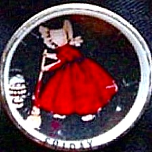 SUNBONNET BABY Mini 1 1/8 inch Porcelain Days Of The Week FRIDAY Limited Edition (Image1)