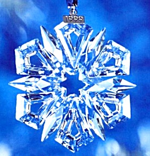 1999 Annual Swarovski Star Snowflake Ornament SCO99 MIB COA (Image1)
