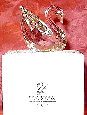 1995 Swarovski Collectors Club Member Renewal Swan Gift Scs-1995 #003-003802 Mib